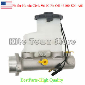 New Brake Master Cylinder For Honda Civic 96 00 Fit Oe 46100 S04 A01