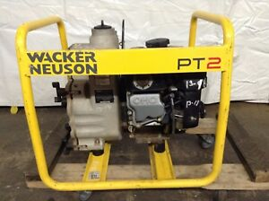 2 Trash Pump Wacker Neuson Pt2 Gas Powered Commercial Dewatering Water