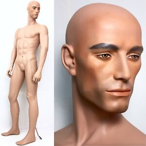 Rare Vintage Male Mannequin Decter Man Full Muscular Realistic Head Face