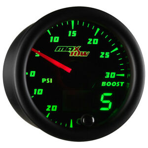52mm Maxtow Double Vision Turbo Boost Vacuum Green Led Digital Analog Gauge