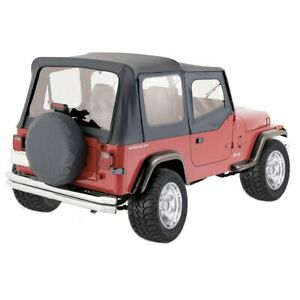 Rt Off road Soft Top New Black Jeep Wrangler 1987 1995 Rt10015