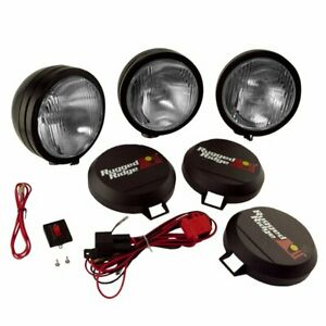 Rugged Ridge Hid Offroad Lights Set Of 3 New 15205 62
