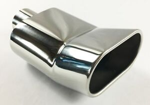Exhaust Tip 2 25 In Inlet 5 50 In Oval 9 50 In Long Turned Up Rolled Outlet Wtu5
