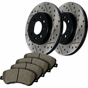 Stoptech 2 Wheel Set Brake Disc And Pad Kits Front New For Subaru 938 47015