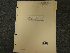 John Deere 610 Bulldozer Dozer Attachment Parts Catalog Manual Book Pc694
