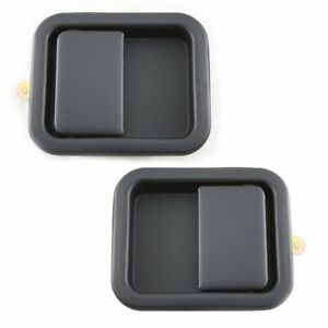 Flat Black Exterior Outside Door Handle Lh Rh Pair Set Of 2 For Wrangler Cj7