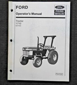 Genuine Ford 1710 Tractor Operators Manual Nos Very Good Shape