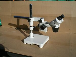 Amscope 1x 3x Microscope With Boom Stand No Eyepieces