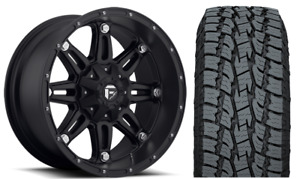 22x11 Fuel Hostage Black Wheel And Tire Package 33 Toyo At 6x5 5 Chevy Gmc