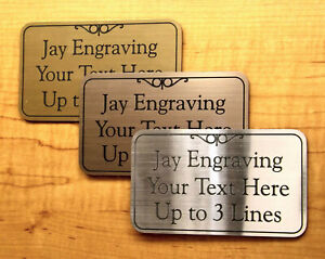 Custom Engraved Brushed Finish Office Suite Sign Business Wall Address Plaque