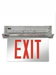 Acuity Lithonia Aluminum Led Exit Sign battery Backup Edgrny 1 R El