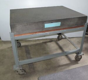 Standridge Granite Surface Table Inspection Plate 4ft X 3ft X 6in On Stand Nice