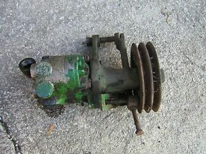 John Deere Tractor Original Jd Hydraulic Pump H10599 Double Belt Pulley