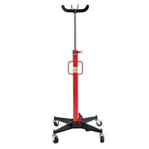1100lb High Lift Transmission Jack Automotive Foot Pump Ram Repair Stand Tool