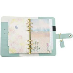 Color Crush Faux Leather Personal Planner Kit 5 25 x8 Light Teal 799456075075