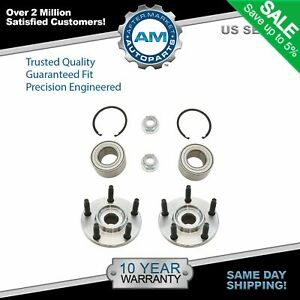 Front Wheel Bearing Hub Kit With Snap Ring Nut Lh Rh Pair For Edge Mkx New