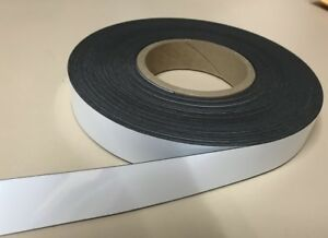 White Dry Erase Magnetic Strip Roll 1 X 100 Write On Wipe Off Magnet Magnets