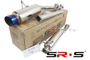 Sr s T 304 Stainless Steel Catback Exhaust 02 03 04 05 06 Rsx Type s Burnt Tip