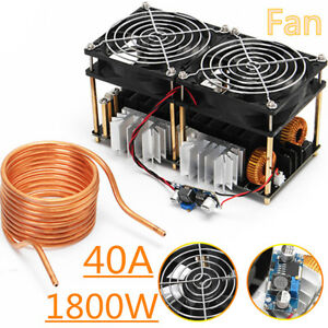 1800w Zvs Induction Heating Board Module Flyback Driver Heater tesla Coil fan