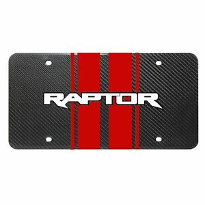 Ford F150 Raptor 2017 18 Red Racing Stripes Uv Graphic Carbon Fiber Plate