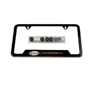Ford Performance Mustang Black Stainless Steel License Plate Frame M 1828 Ss304b