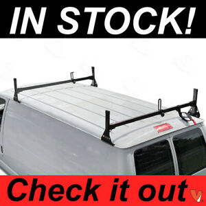Ford Econoline Van 2 Bar 1992 2015 Ladder Roof Racks Steel Black Rack