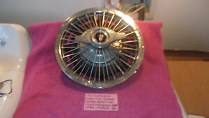 1964 Oldsmobile Cutlass F85 Genuine Gm Wire Spoke Hubcap 14 Inch Free Shipping
