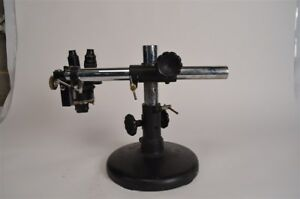 Spencer Lens Microscope W 3 Objectives Boom Stand Base