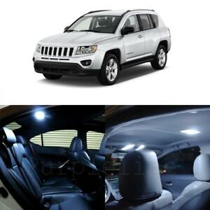 8 X White Led Interior Light Package For 2007 2018 Jeep Patriot Compass Tool