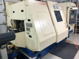 Used Tsugami Tmu 1 Cnc Swiss Lathe 2007 1 5 Bar 60 Tools Twin Spindle Collet