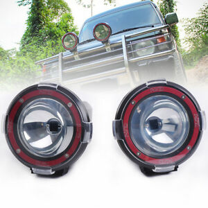 2pcs 4 Hid Suv Baja Pickup Off Road Lights Flood Rally Driving Lamps Cover