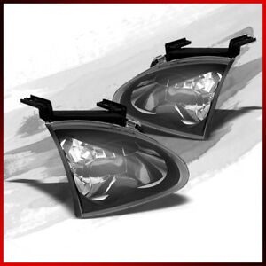 Fits 93 97 Honda Del Sol Jdm Blk Headlights Front Lamps Replacement Pair