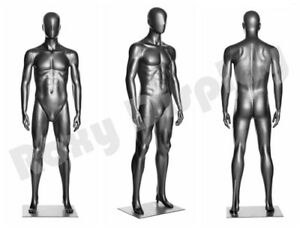 Male Fiberglass Mannequin Manikin Dress Form Egg Head Display mz ds001