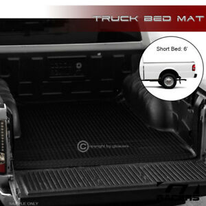 For 1993 2011 Ford Ranger 1994 B Series 6 Black Rubber Truck Bed Rug Floor Mat