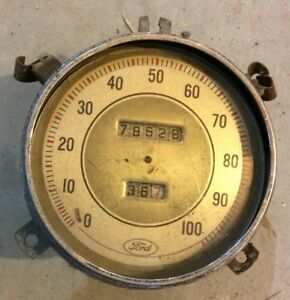 Vintage 1930 s 1937 1938 Ford Gauge Speedometer Rat Rod Hot Rod