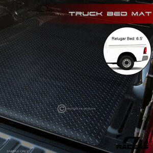 For 2002 2018 Dodge Ram Rambox 6 4 Blk Rubber Diamond Truck Bed Floor Mat Liner