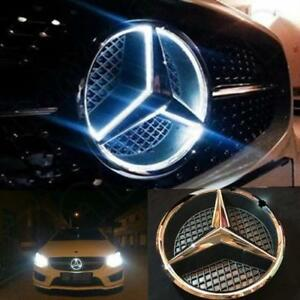 Grille Star Emblem Badge For Mercedes Benz 2006 2013 Illuminated Blue Led Light