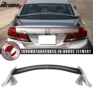 Fits 12 15 Civic 9th Type R Trunk Spoiler Painted 700 Alabaster Silver Metallic
