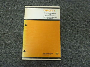 Drott Duvac 12 24 Volt Starting Charging System Service Troubleshooting Manual