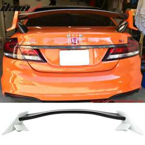 Fits 12 15 Civic 9th Type R Trunk Spoiler Painted Glossy Black Taffeta White