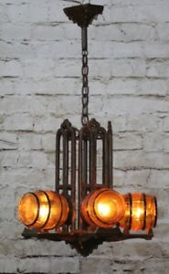 Antique Art Deco Slip Shade Chandelier Light Barrel Shades Multiple Available