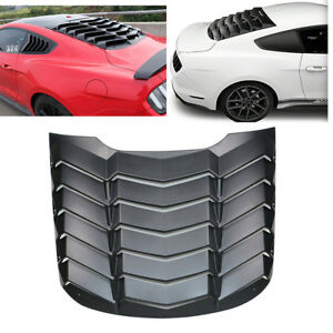 Matte Black Rear Window Louvers Scoop Gt For Ford Mustang 2015 2016 2017 2018