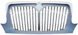 International 3200 4100 4200 4300 Radiator Grille Grill Chrome Front 242 5107