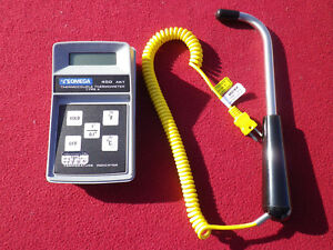 Omega Thermocouple Thermometer Type K 450 Akt And Atkins 50319 k Probe