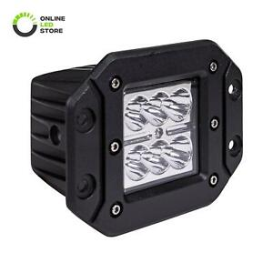 Ols 24w Led Off Road Flush Mount Cube Light Truck Bumper Driving Reverse Spot