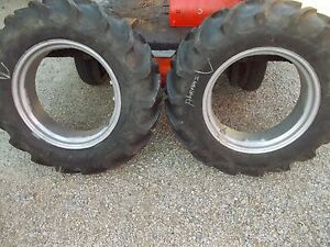 Allis Chalmers B C Tractor 11 2 X 24 75 Tread Armstrong Tire Tires Rims Rim