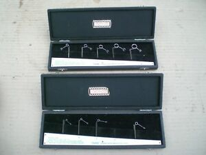 2 Sets Of O vee Gage Co Thread Measuring Wire Gages 5 12 And 1 4 1 2