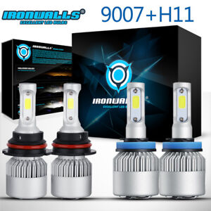 9007 h11 Combo Led Headlight Hi lo Beam Fog Light For Nissan Chevrolet Cobalt