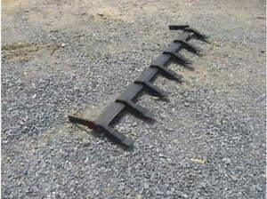 New Removable Tooth teeth Bar Skid Steer Loader compact Tractor Bobcat cat