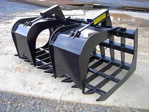 New Loflin Large Monster 84 7 Grapple Root Rake Skid Steer Loader Bobcat Cat